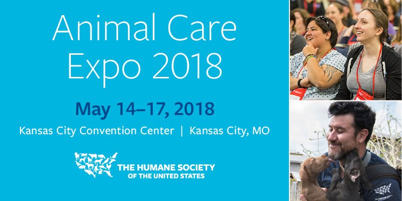 #AnimalCareExpo starts TODAY!   Will you be joining us? �� https://t.co/Q8is7xmMx6