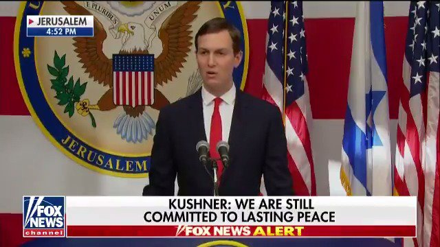 """RT @FoxNews: Jared Kushner: """"The United States is ready to support a peace agreement in every way that we can."""" https://t.co/SK8G79ptH0"""