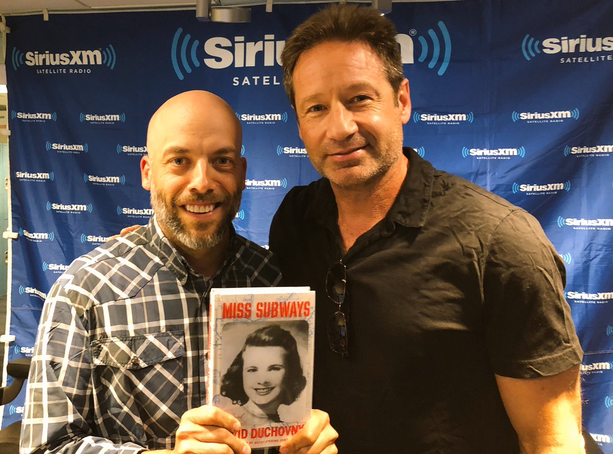"RT @StandUpWithPete: Hey! It's @davidduchovny and his new novel ""Miss Subways!"" https://t.co/lvgRaDWj8V"