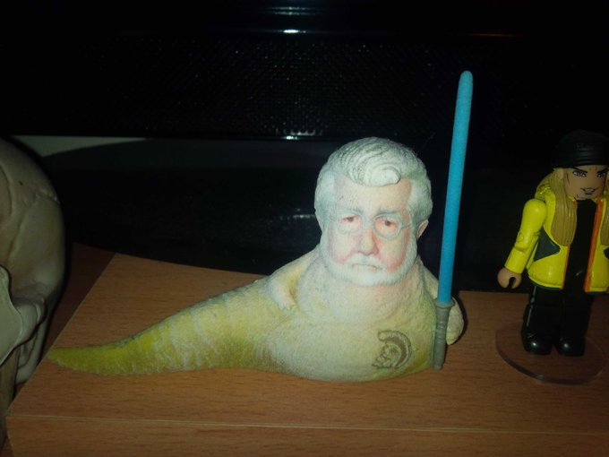 Happy birthday to George Lucas - to celebrate here\s a picture of my ugliest piece of memorabilia X
