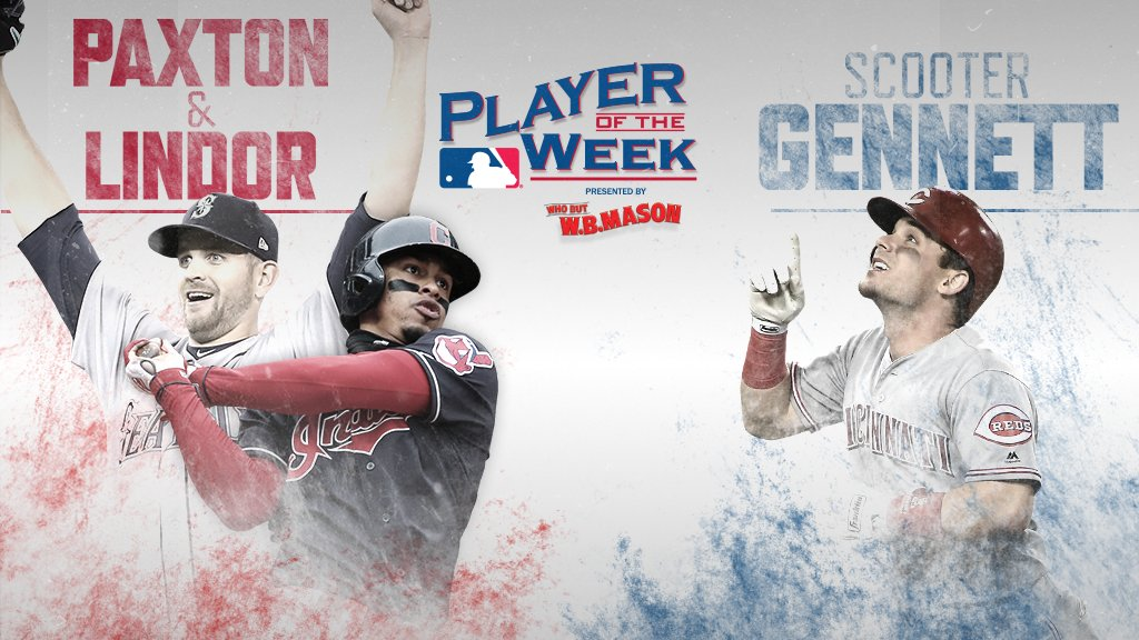 A trio putting up video-game numbers.     Your AL, NL Players of the Week presented by @WBMasonCo. https://t.co/CbkysKx7u2