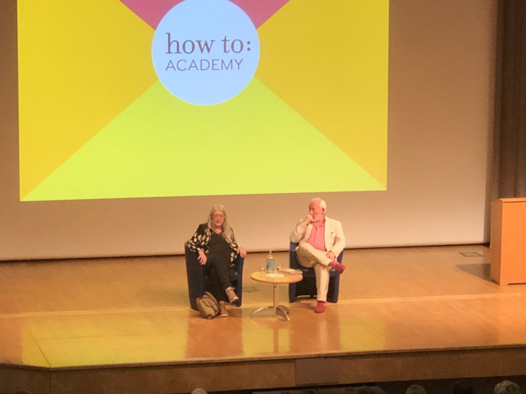 test Twitter Media - The fantastic @wmarybeard and @SimonCallow discussing #Civilisations and how Mary would love to visit Ancient Rome, but only on a time travelling return ticket! A perfect #Monday in #London https://t.co/8QiZ0X5yG8