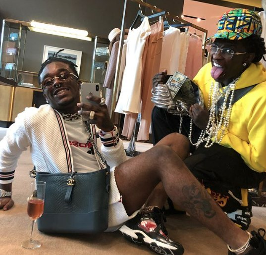 Lil Uzi Vert says he's got 1,500 unreleased songs with Young Thug. https://t.co/PLasClPazl https://t.co/QlYwiv4qnM
