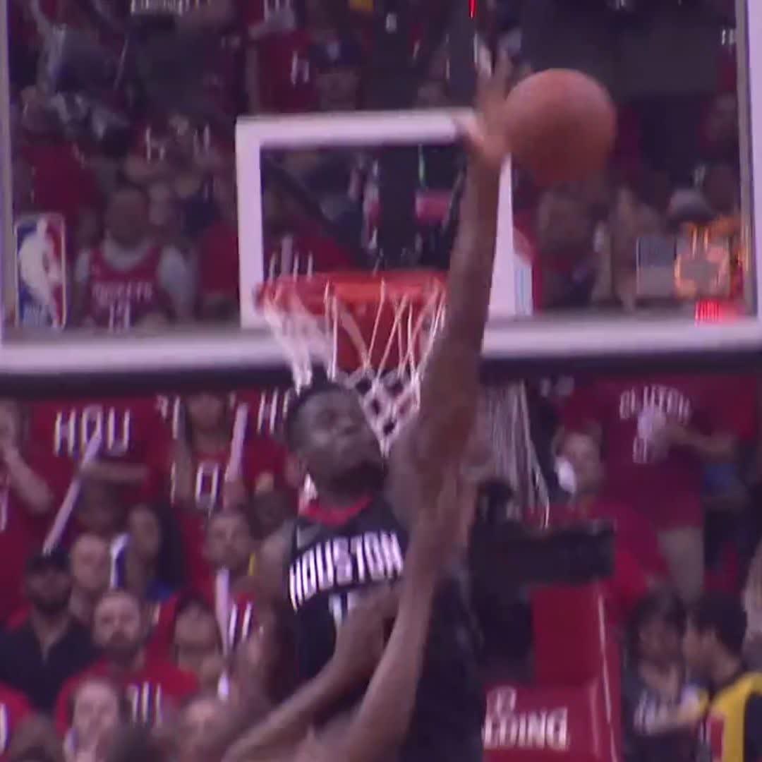 Capela DENIES Durant! ����  #NBAPlayoffs | #Rockets https://t.co/gt6vPUAktS