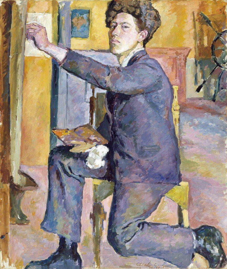 """Alberto Giacometti (22): """"Autorretrato"""" (1921). https://t.co/DOi9c2BMDU"""