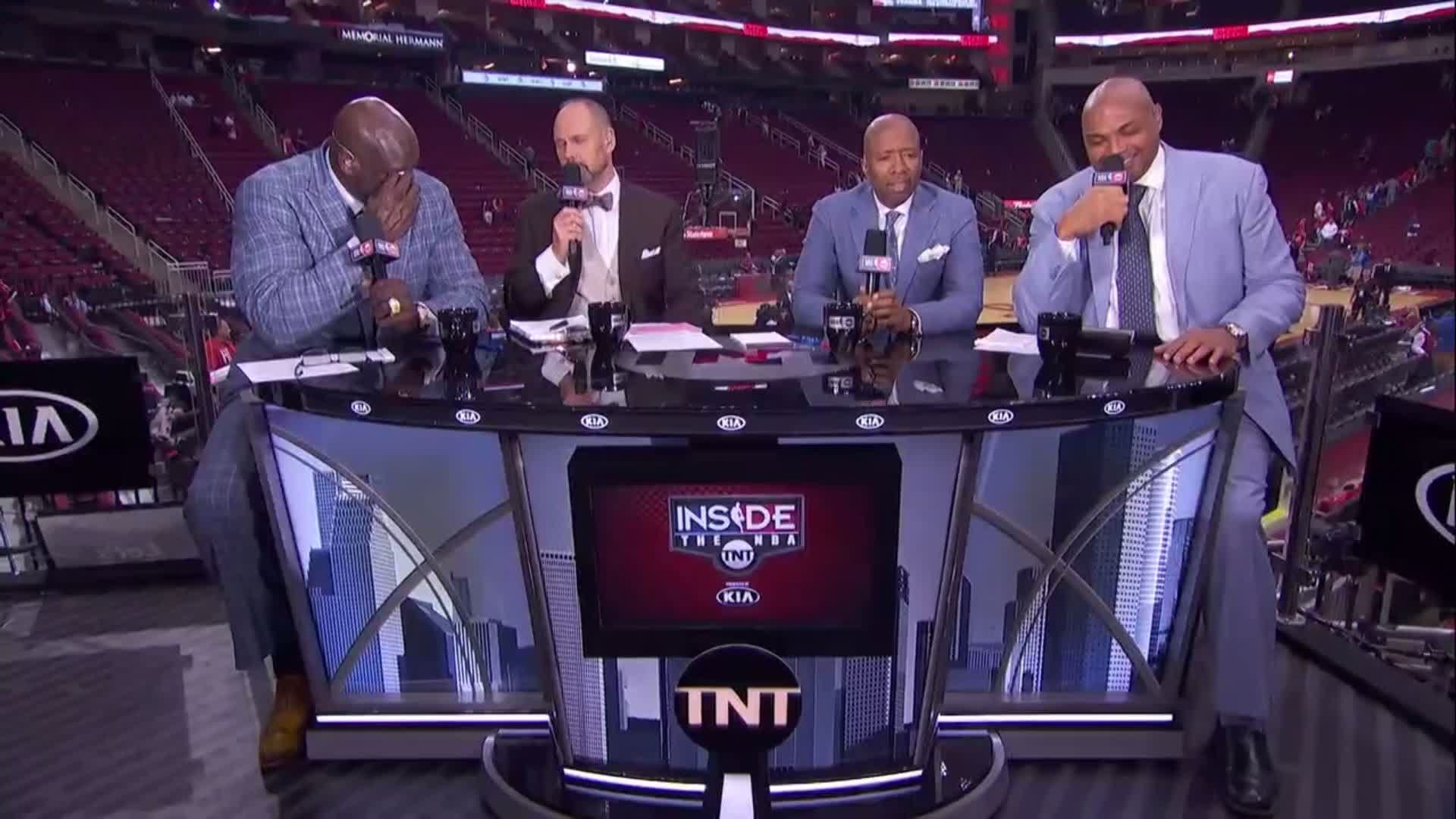 Shaq & Chuck are even more upset after Game 1 ��  #InsideTheNBA pres. by @Kia NOW on TNT! https://t.co/bI0v1VpQg9