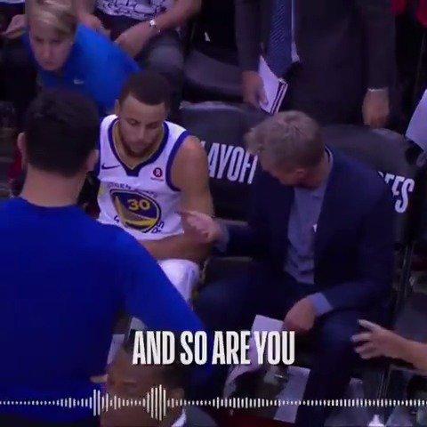 �� Words of Encouragement from Coach Kerr ��  #DubNation  #NBAPlayoffs https://t.co/efJS7j2AMz