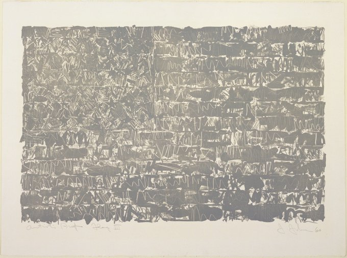Happy Birthday Jasper Johns Flag III, 1960 collection