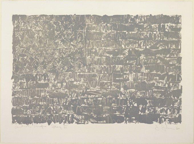 Happy Birthday Jasper Johns Flag III, 1960 collection