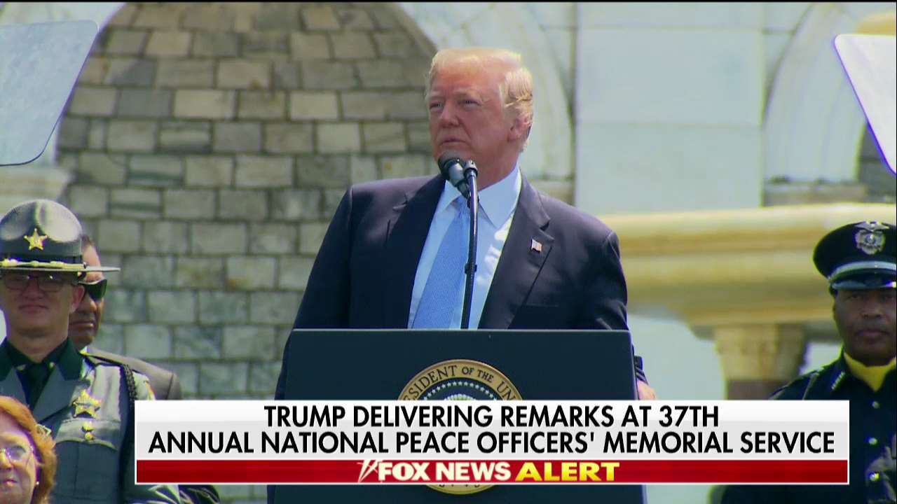 """.@POTUS: """"We stand with our police."""" #PeaceOfficersMemorialDay https://t.co/CJyfdCto2F"""