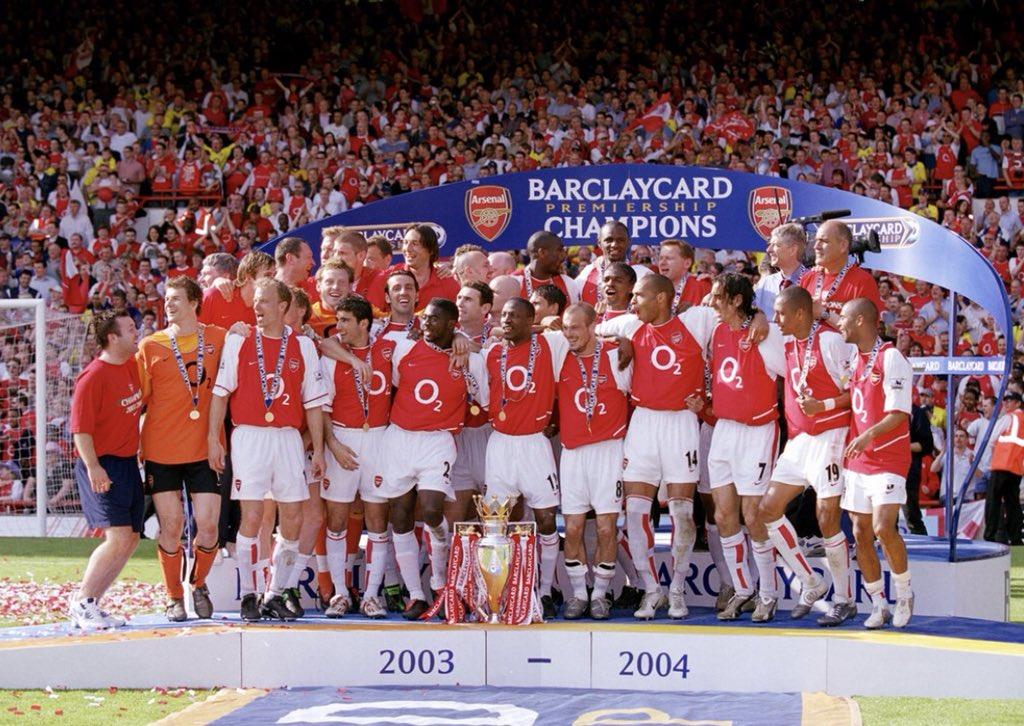 What a day we had at Highbury 14 years ago today. The night wasn't bad either #invincibles #arsenal #afc https://t.co/bSUf958Rxt
