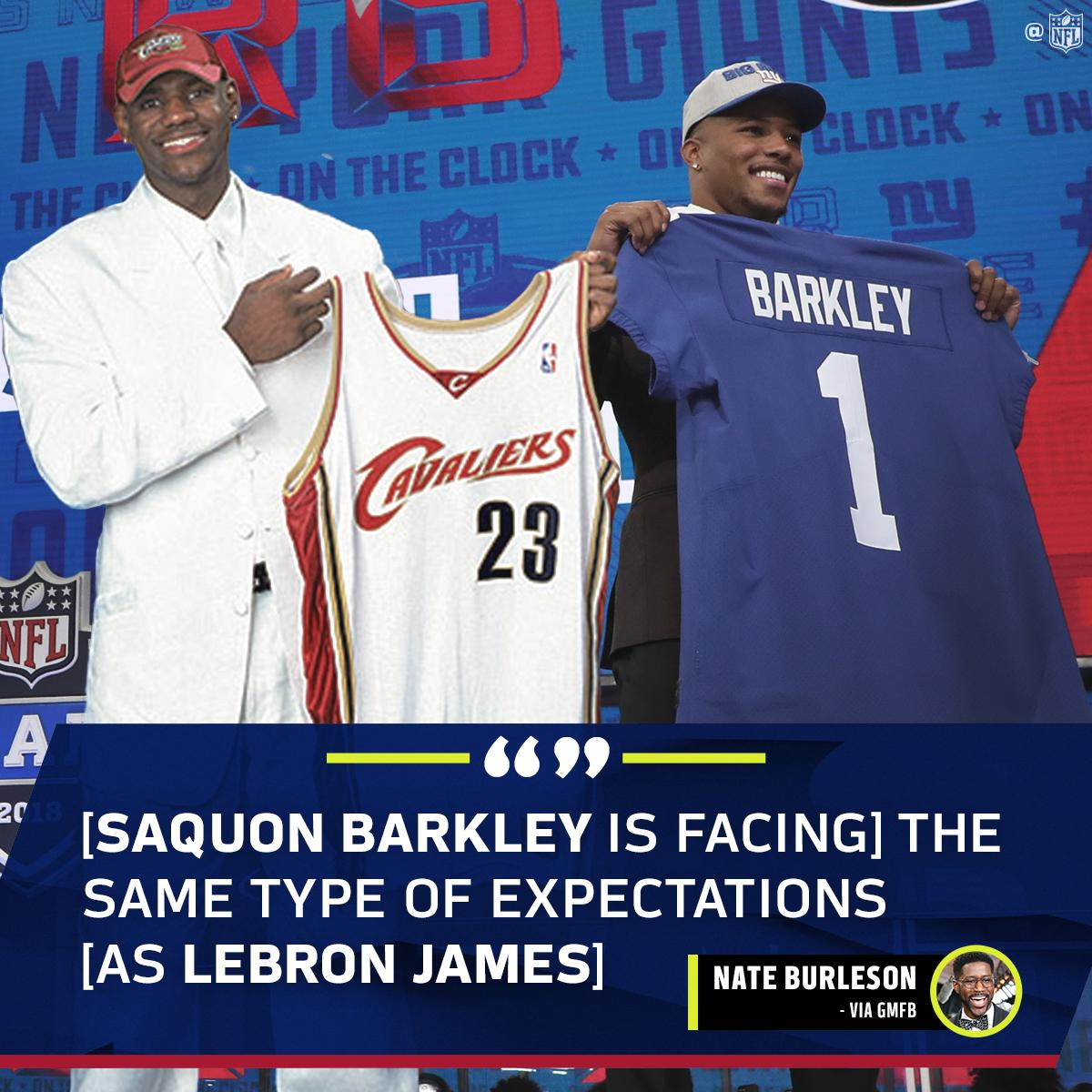 The @KingJames of New York is... @saquon? �� https://t.co/z4KeS3wTCT