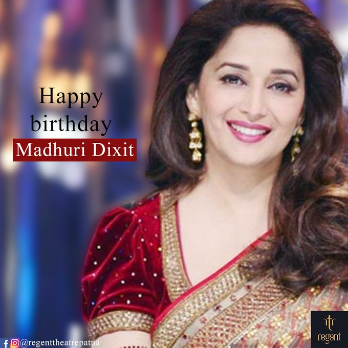 Regent Wishing Happy Birthday to Madhuri Dixit