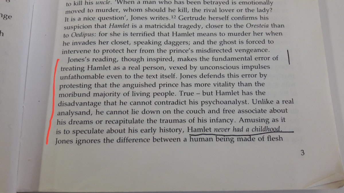 Maud Ellmann having to remind us that Hamlet *isn't a real person* is my new favourite piece of crit https://t.co/uxKpABZcFB