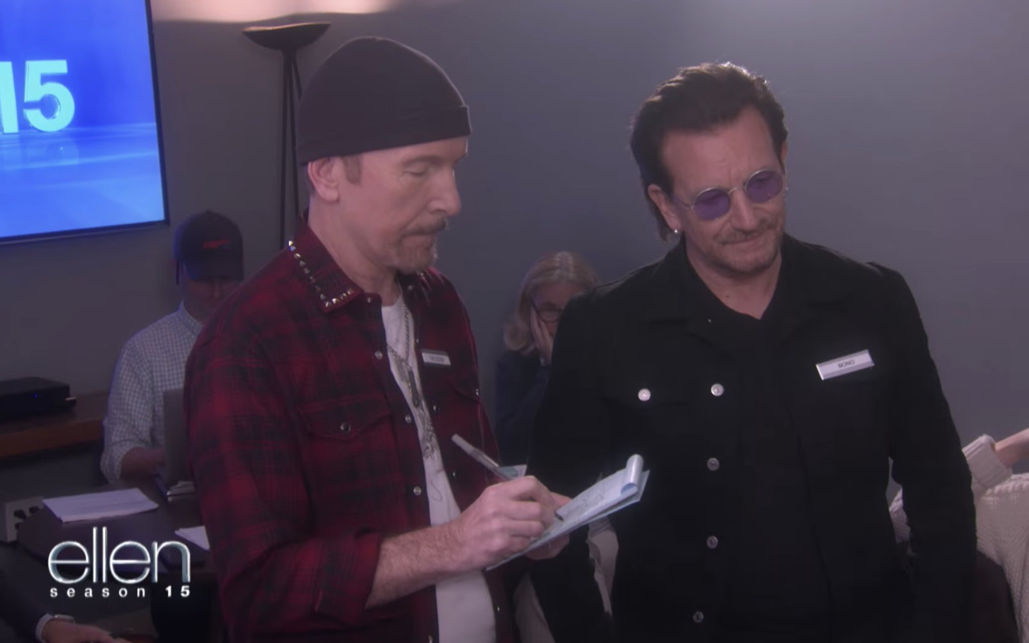 Bono and the Edge were Ellen's assistants today https://t.co/vK737fQGRU https://t.co/2Me4gWvM8E