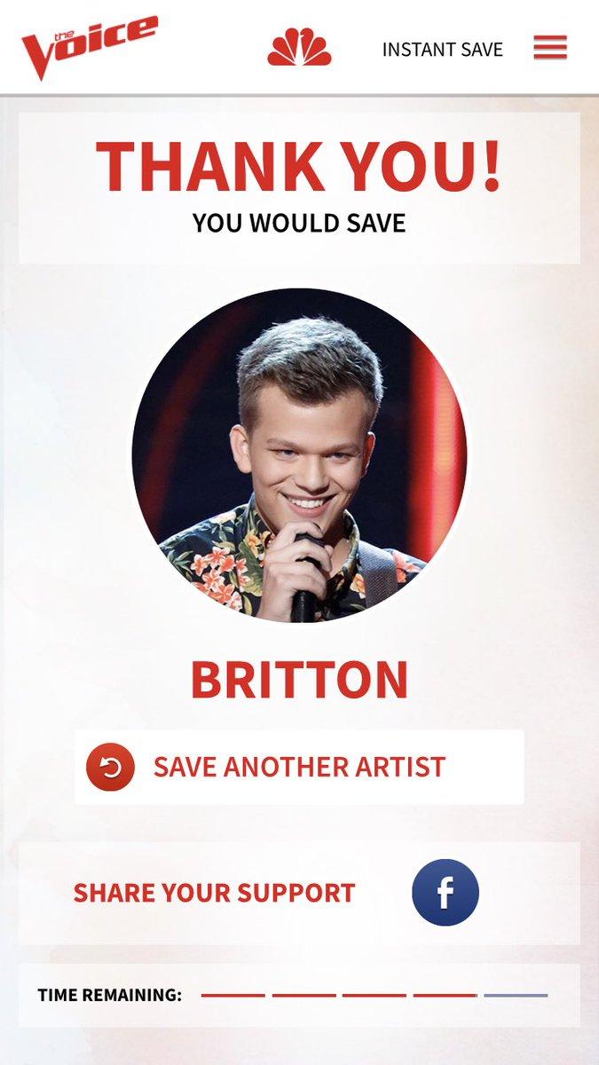 RT @KatilynMiller: #VoiceSaveBritton @BrittonBuchanan LIKE EVERYONE LOOK AT THIS SMILE???????? HELP HIM PLEASE!!! https://t.co/9gUWj8yG6g
