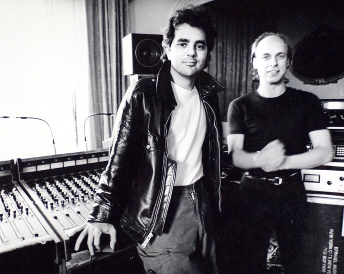 Happy Birthday Here s a great shot of Brian Eno and Daniel Lanois from 1984.