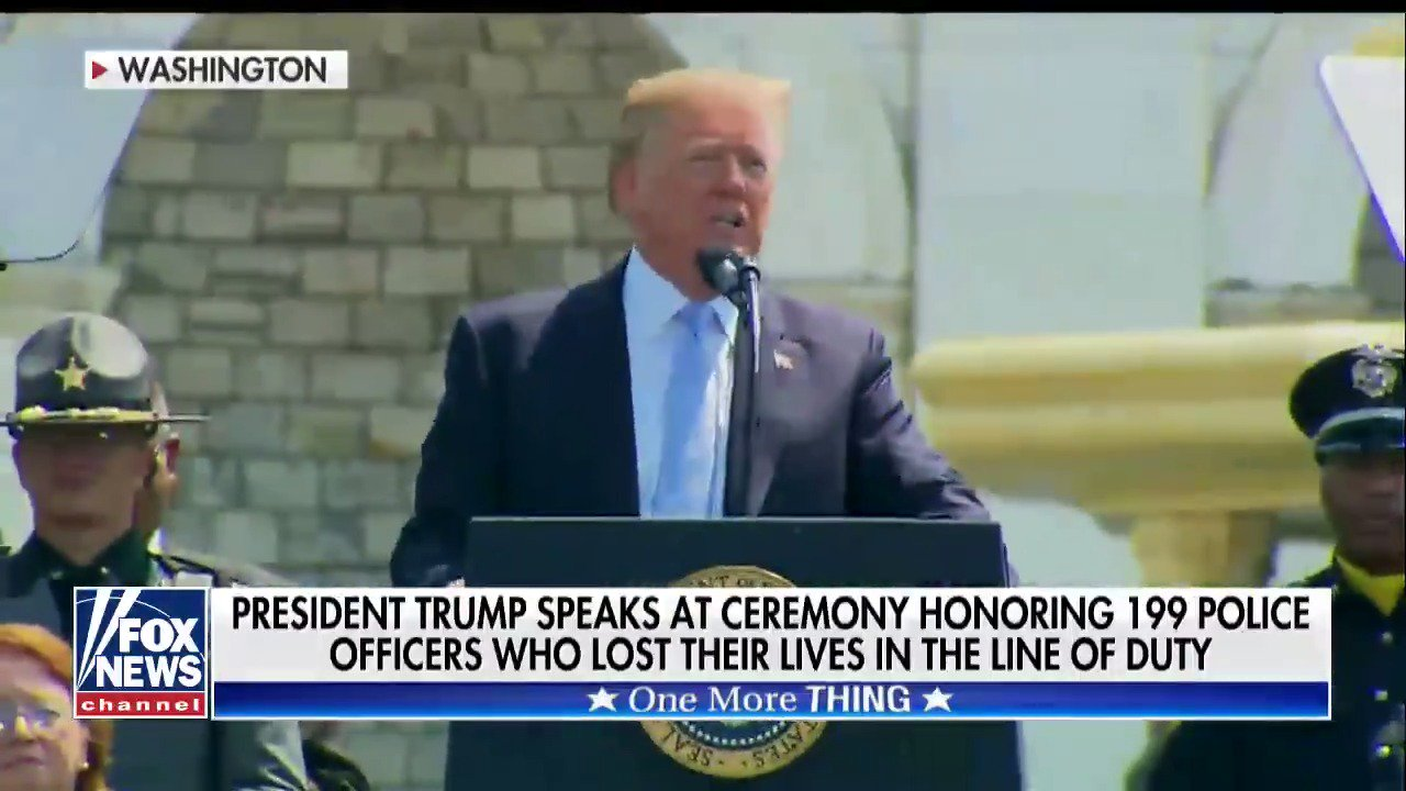 .@POTUS speaks at National Peace Officers Memorial Service #TheFive https://t.co/2mHDpxFfyz