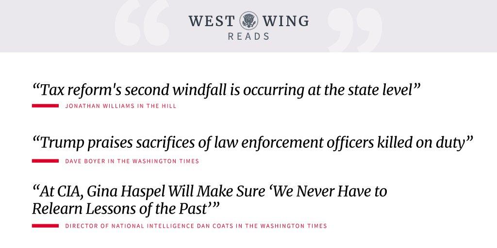 Tonight's edition of West Wing Reads: https://t.co/ELdQS2tnWO https://t.co/23DerUTRk5