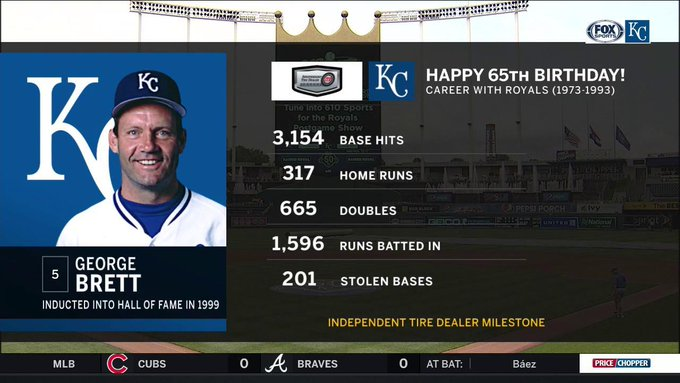 65 never looked so good. Happy birthday to THE George Brett!