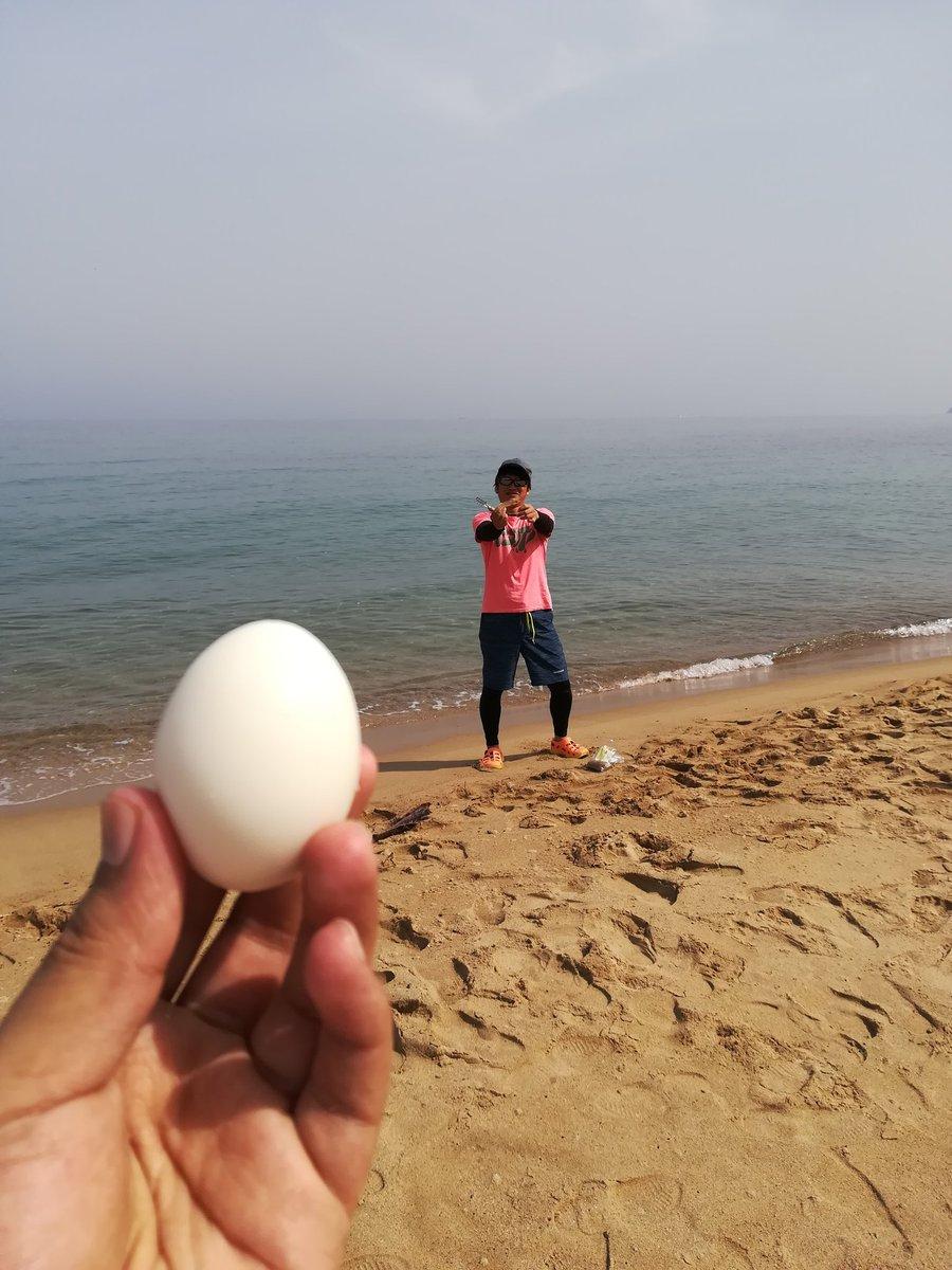 おはようございます有吉です! 火曜日は今年初のキス釣りに行ってきました(^-^) 久しぶりに2人ともよく釣れました(笑) そのあとは海でゆで卵を食べて、これが、うみたまごやなぁとかわけのわからないことを言ったりしてました(笑) https://t.co/e7HhBNFc21
