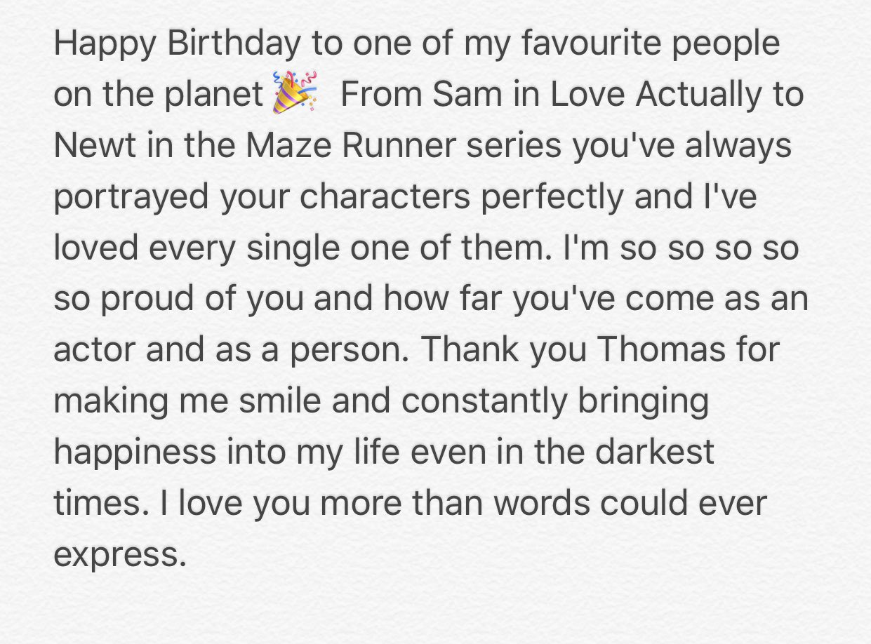 Happy 28th Birthday Thomas Brodie Sangster I love you more than anything