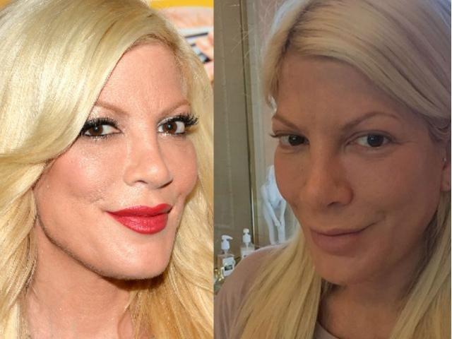 Happy bday Tori Spelling! Celebridades con y sin maquillaje, ¿cómo las prefieres?ttp://ow.ly/Xegc30k1dTt