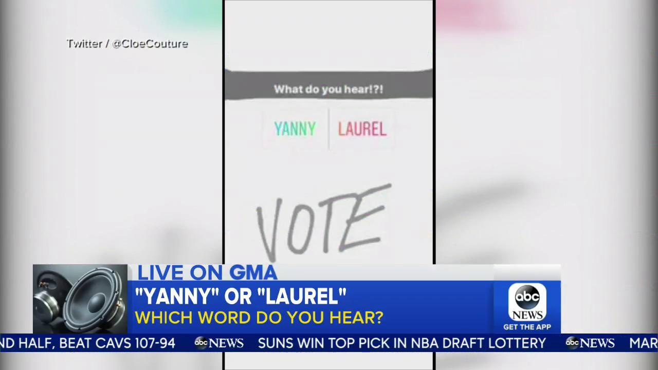 #YANNY or #LAUREL?  Which one do you hear?! https://t.co/F1oPNw7dEi https://t.co/2k70jDTNPG