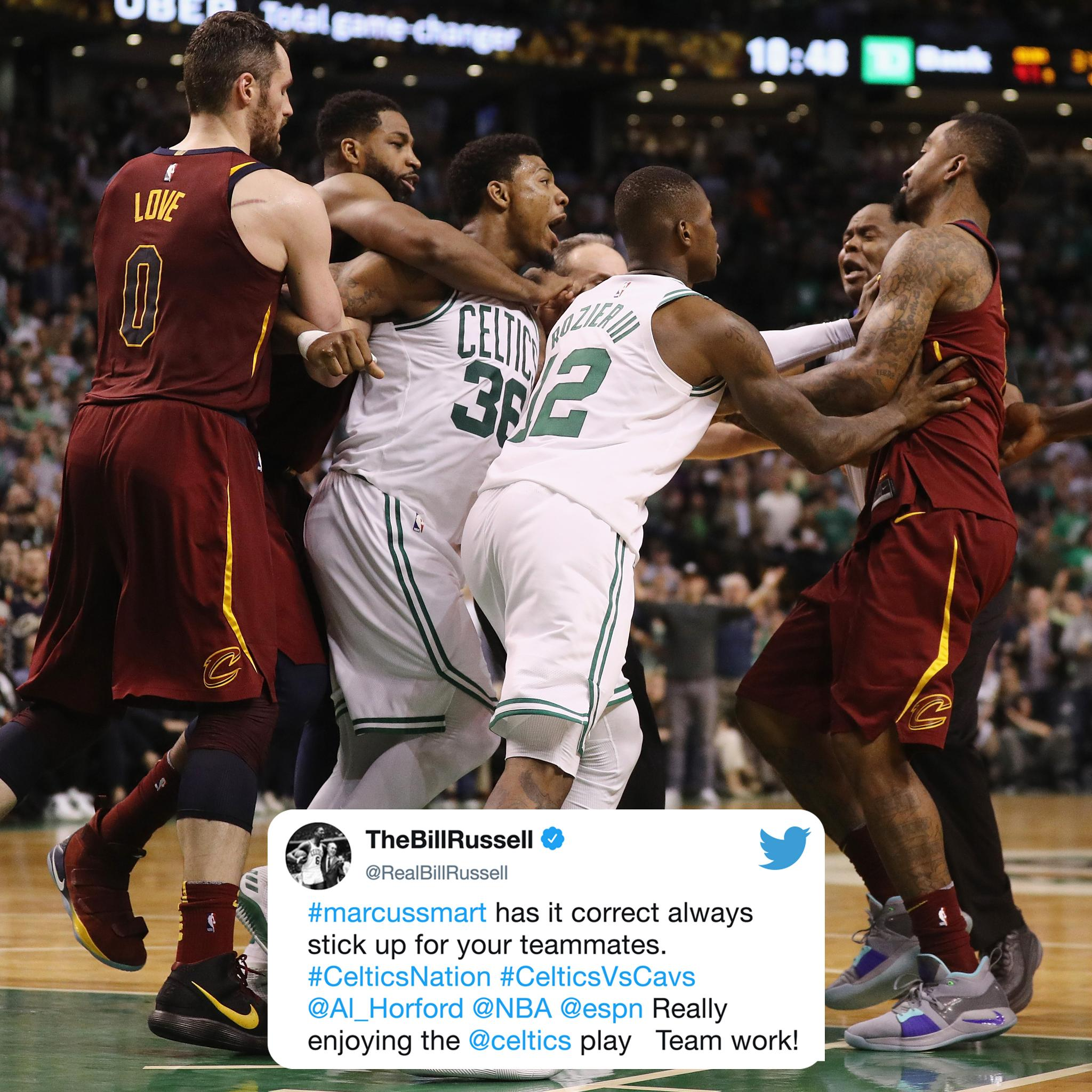 Bill Russell approves of Marcus Smart sticking up for Al Horford. https://t.co/BAg3AGVGXH