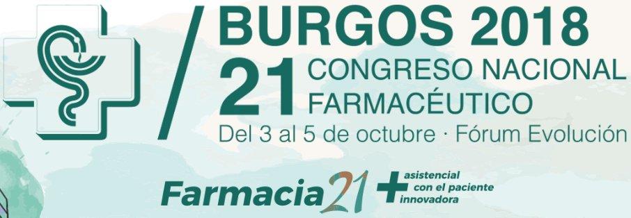 test Twitter Media - Del 3 al 5 d'octubre de 2018: 21 Congrés Nacional Farmacèutic a Burgos. Consulta el programa! @Portalfarma https://t.co/SrKOua8ujs https://t.co/0SkvpbbksS