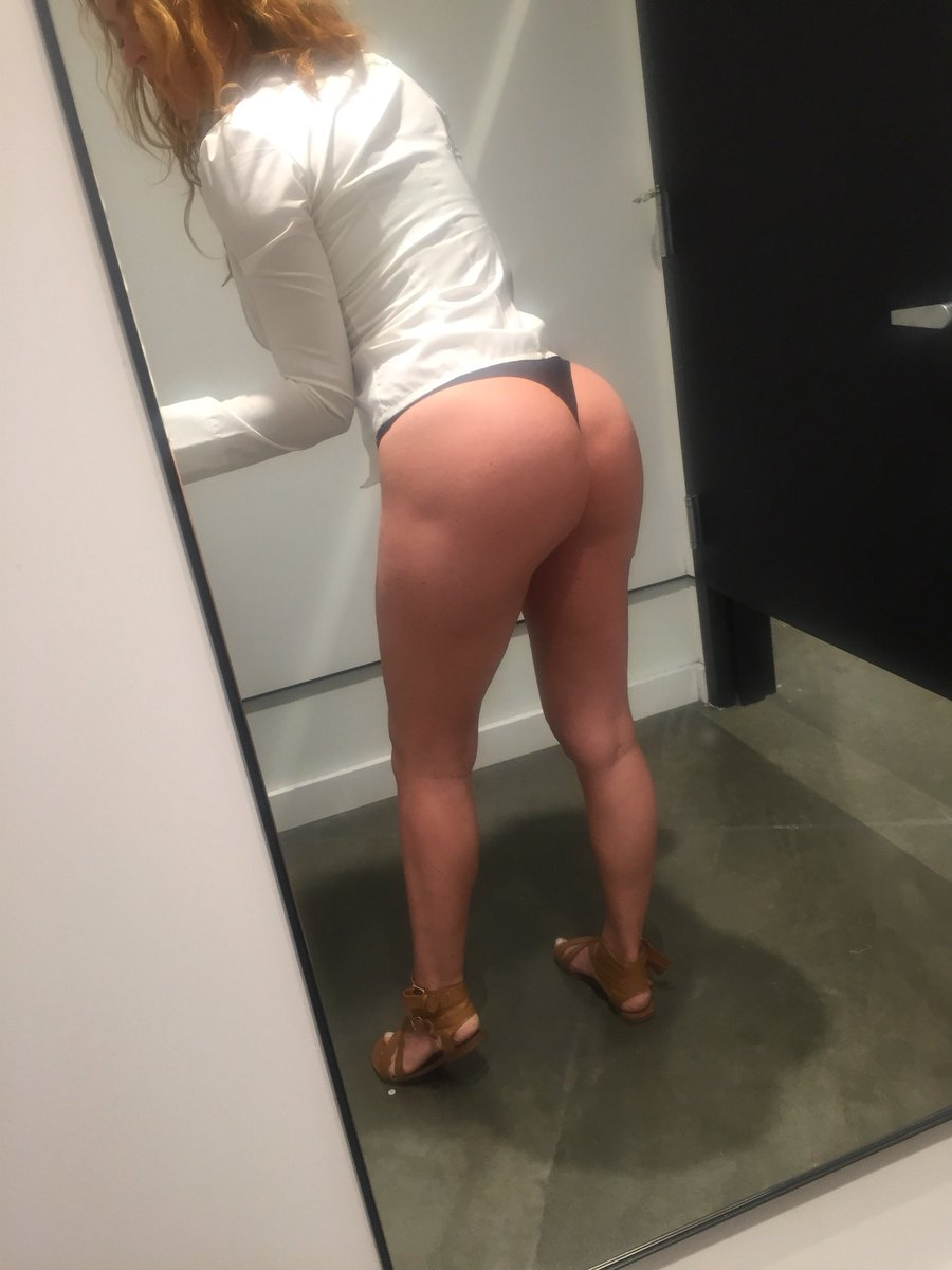 1 pic. Shopping for new jeans ... wish I could walk around like this tho ... haha #booty /