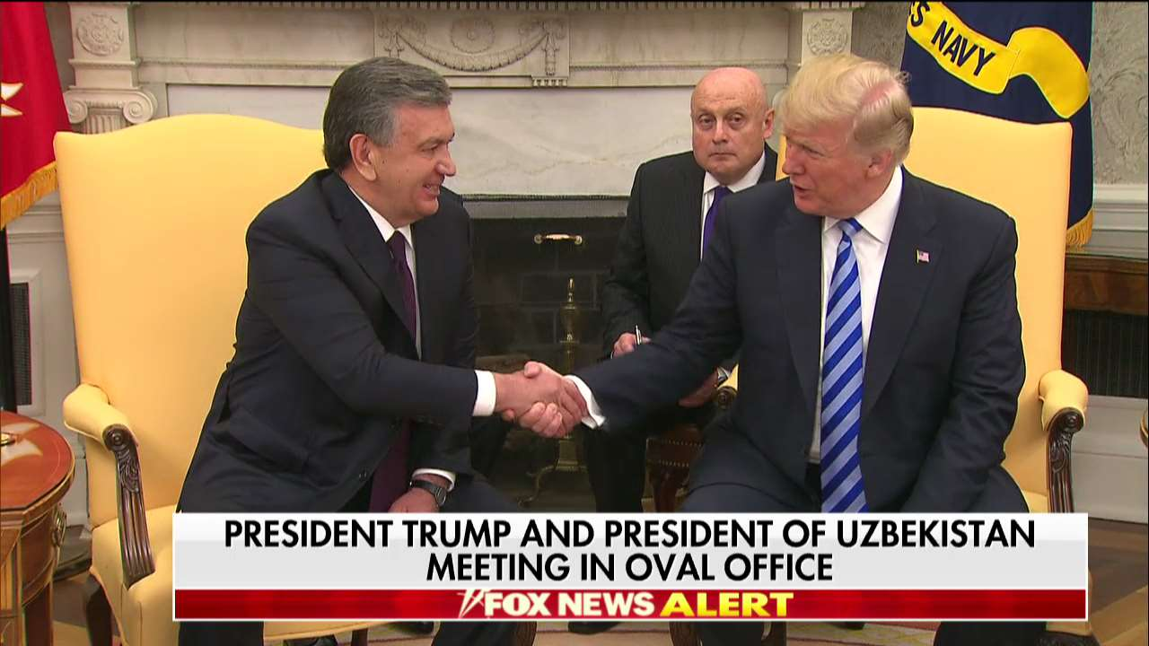 .@POTUS and president of Uzbekistan meeting in Oval Office https://t.co/gEXgYDgSh8