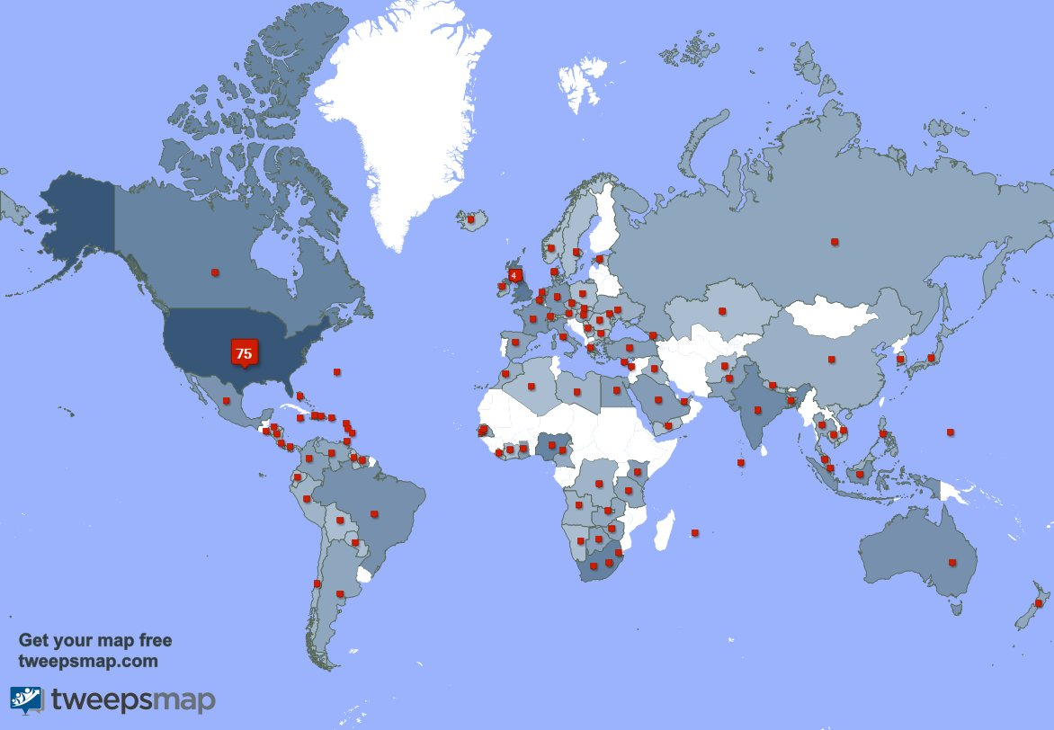 I have 21 new followers from USA, and more last week. See GCleYnYflL Opnt0