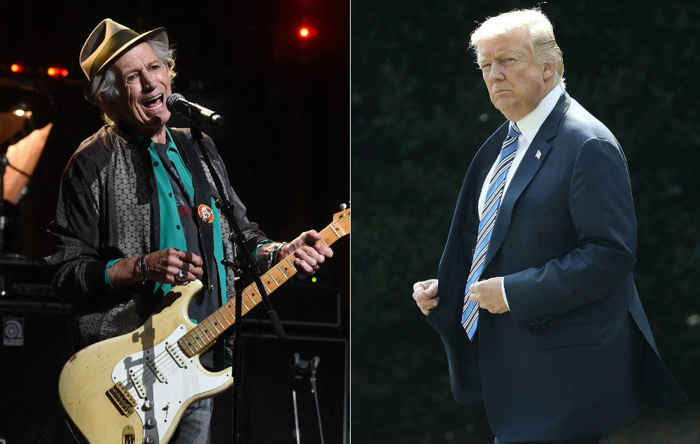 Keith Richards on the time he stabbed a knife in a table to 'get rid of' Donald Trump https://t.co/oI4GqeZ1E9 https://t.co/3oRlTj3oza