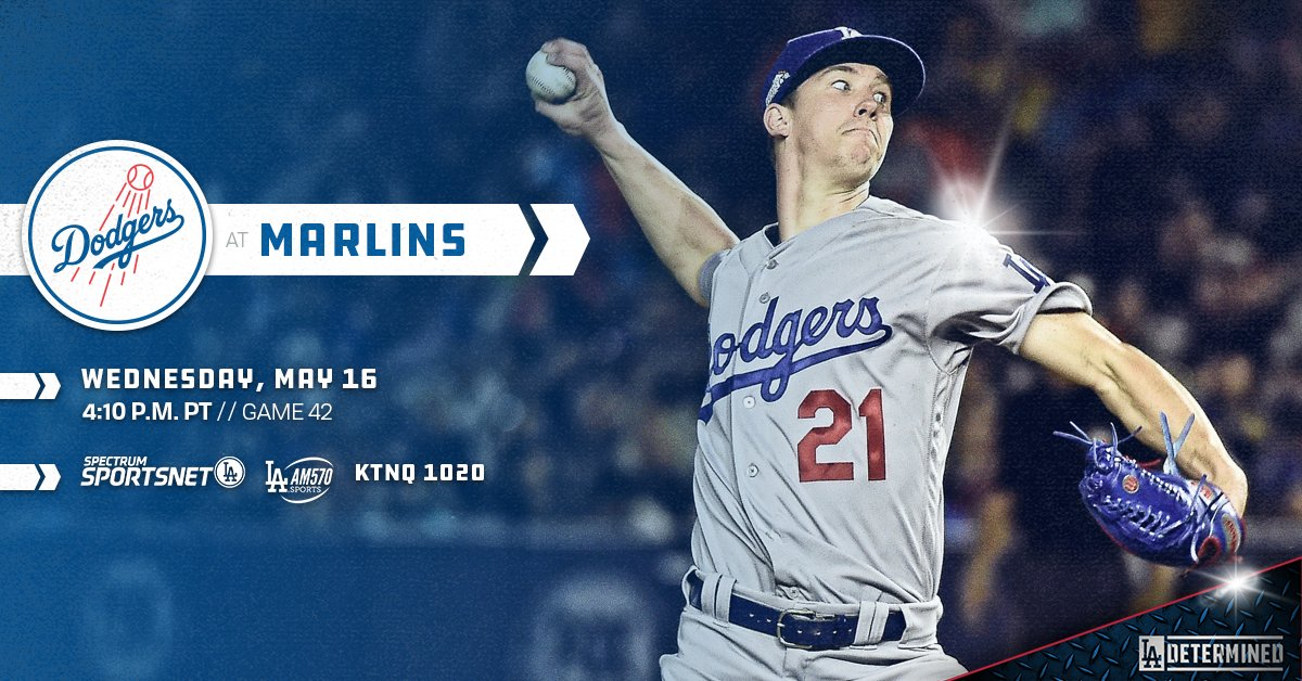 .@buehlersdayoff takes the mound tonight against the Marlins. #Dodgers  ��: https://t.co/f14mXvKs8r https://t.co/hrHwg0To3K