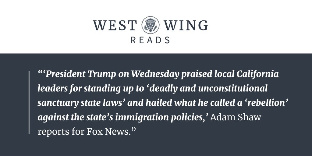 Tonight's edition of West Wing Reads: https://t.co/otGR2NP1Vg https://t.co/nWvKItKdUI