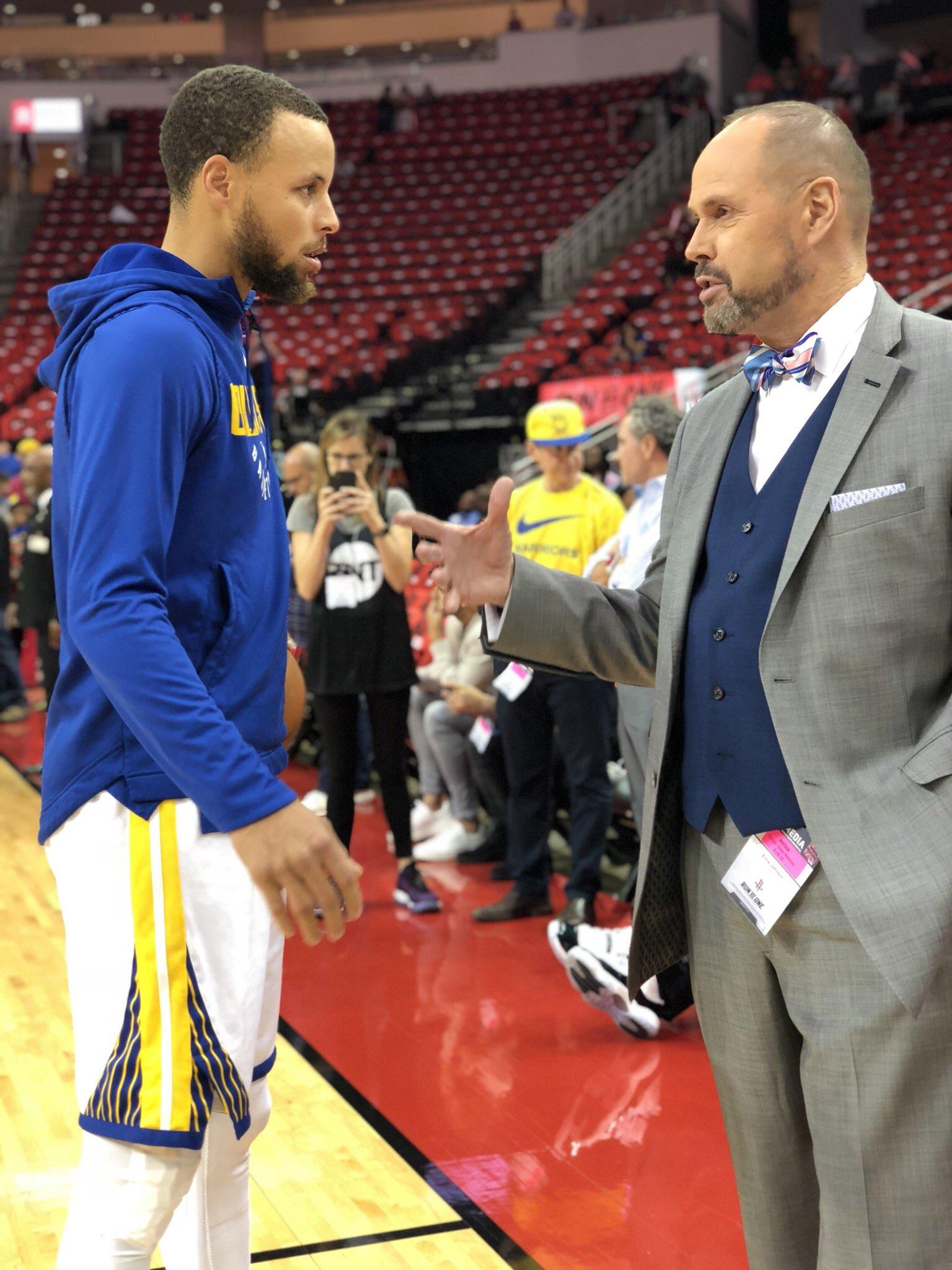 Steph x EJ. #NBAPlayoffs https://t.co/cbgTYBQCZs