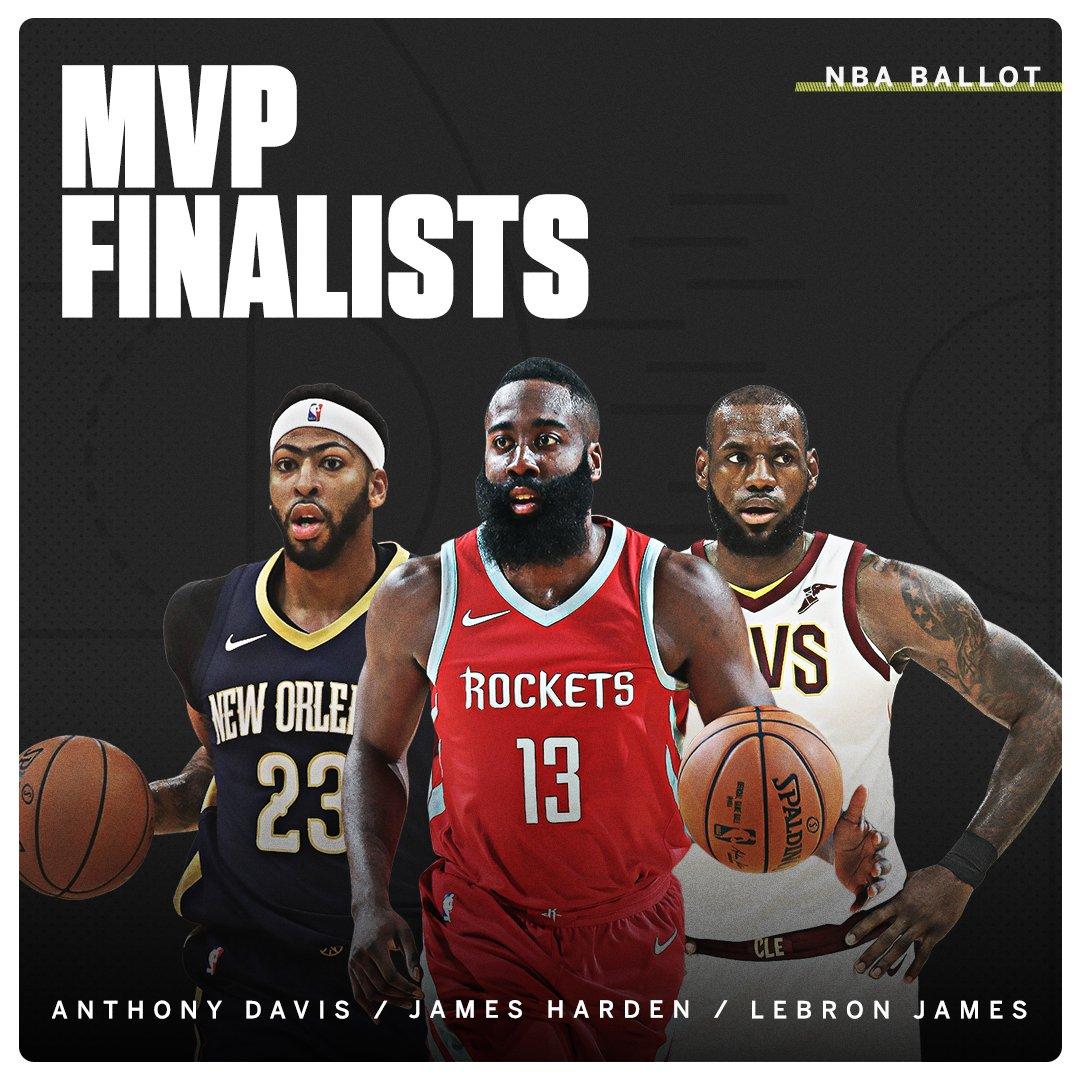 The NBA MVP finalists have been announced. https://t.co/FMfQMTYGTu