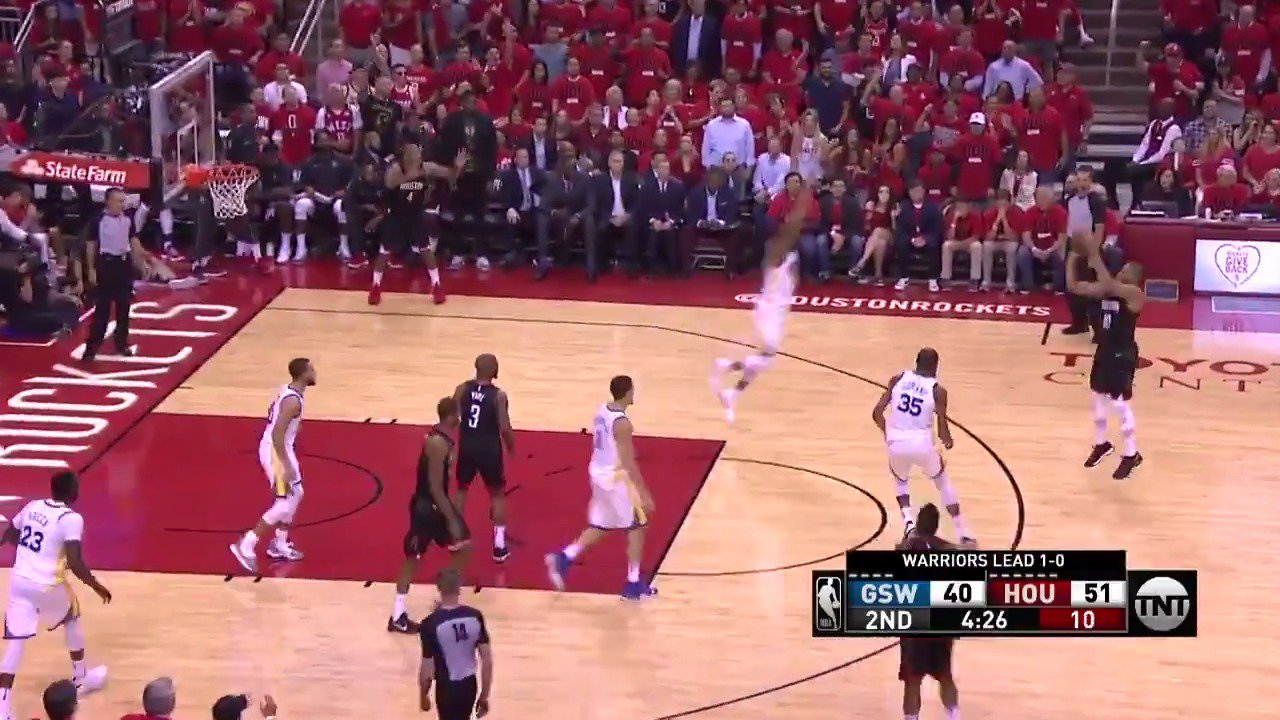 That ball movement! ��  10 3PM for the @HoustonRockets on @NBAonTNT   #Rockets https://t.co/KAkrv9fhch