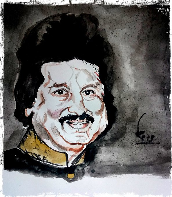 Happy birthday Pankaj Udhas ji Watercolor on A 4 paper