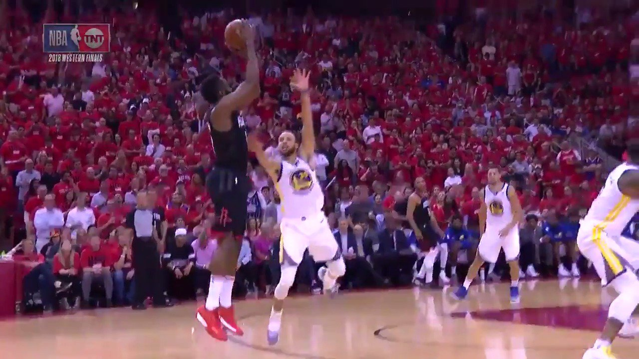 James Harden tallies 27 PTS, 10 REB to fuel the @HoustonRockets Game 2 win at home!   #Rockets #NBAPlayoffs https://t.co/BncezpNoBD