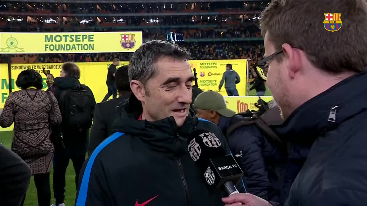 Valverde: 'The atmosphere was fantastic' #SundownsBarça https://t.co/lxstIHlirh