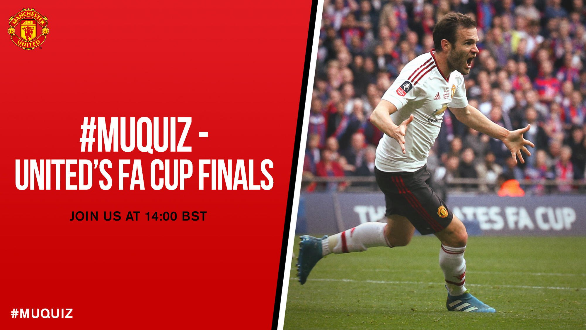 Our #MUquiz on #MUFC's past #FACup finals is coming up at 14:00 BST - don't miss it! https://t.co/5B8mGqBRm1