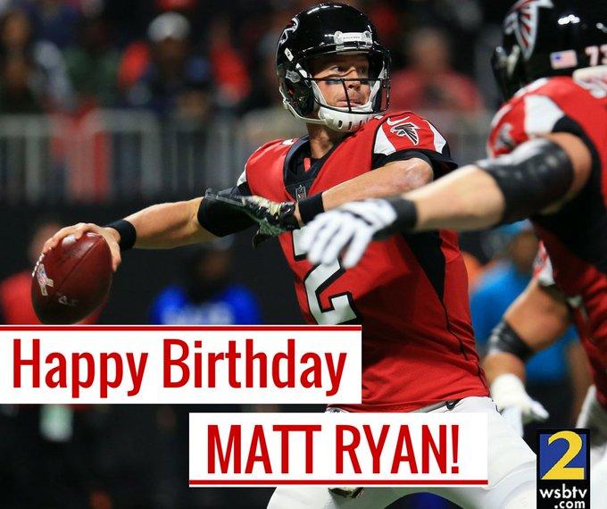 Happy 33rd birthday to new dad and newly re-signed quarterback, Matt Ryan!