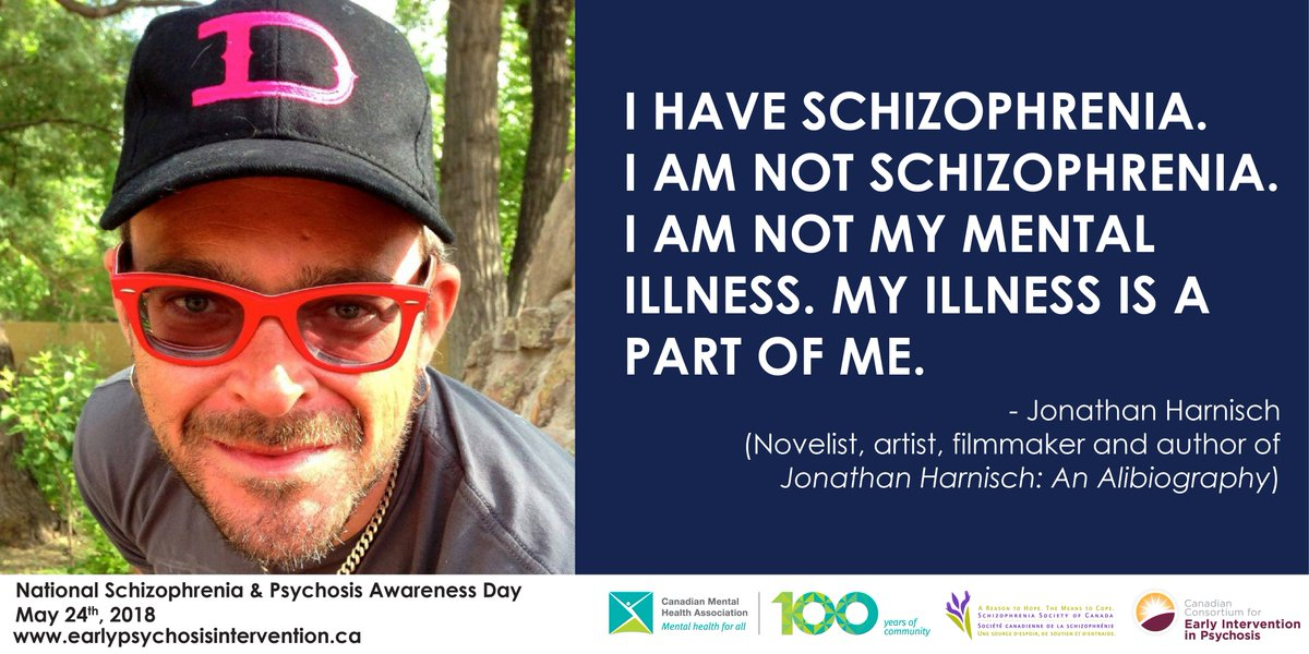 """test Twitter Media - Language matters! For #NSPAD18, remember to use the language """"person with schizophrenia"""" rather than """"schizophrenic person."""" Schizophrenia is an illness, not an identity. #SupportSZ #CMHA100 https://t.co/xvImzqg3Oy"""