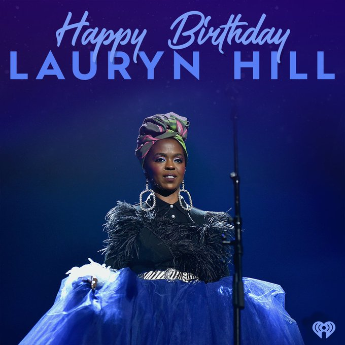 Lauryn Hill turns 43 today - Happy Birthday to a legend.