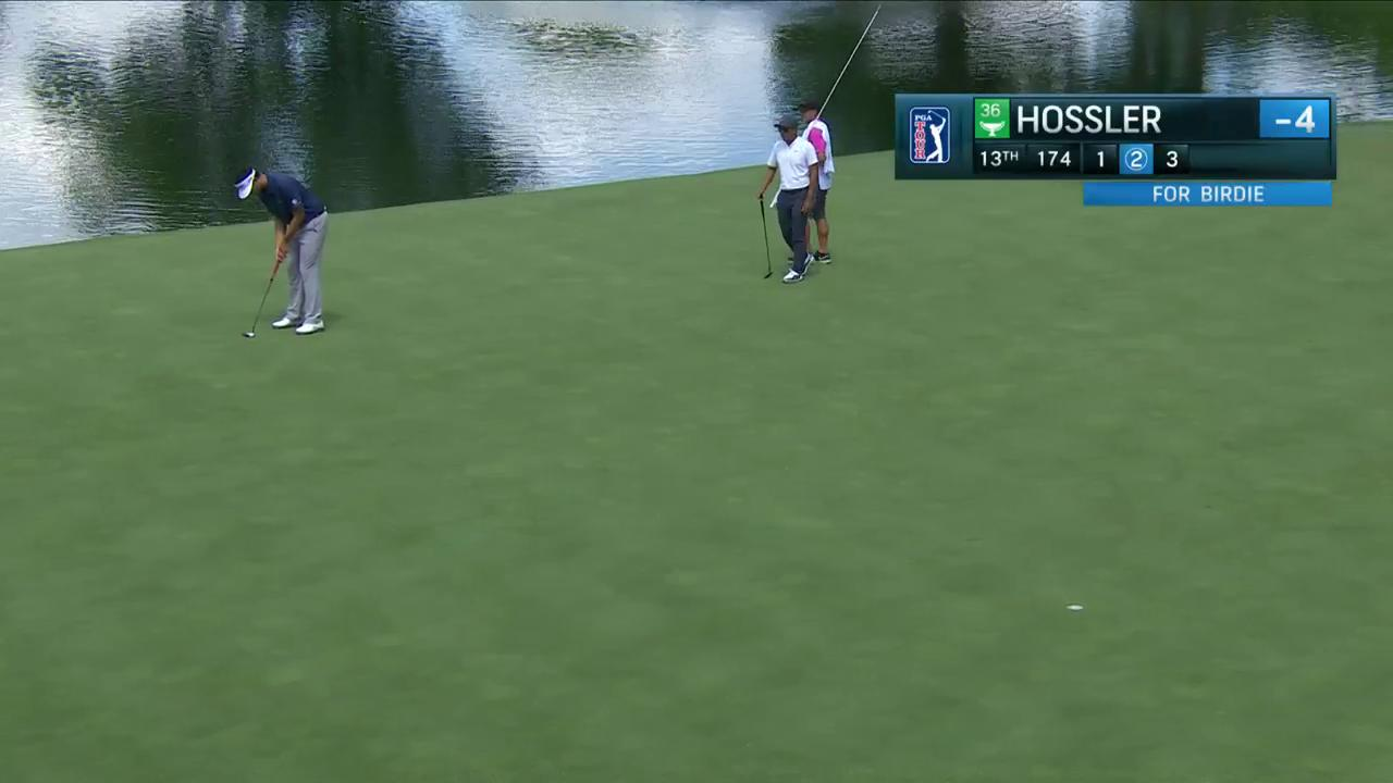 The fifth birdie of the day for @BeauHossler!  He's now at -5, just 2 off the pace.   #QuickHits https://t.co/tIJVcMzNAQ
