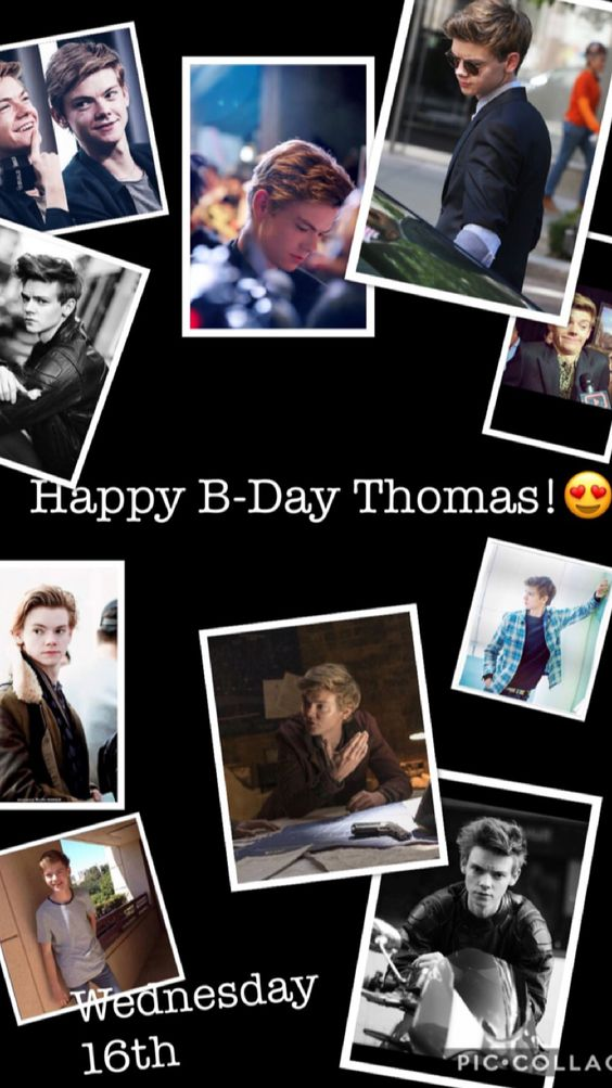 With late, HAPPY BIRTHDAY THOMAS BRODIE-SANGSTER !!!!!