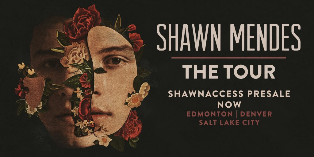 ShawnAccess presale for #ShawnMendesTheTour is now for Mountain time cities!https://t.co/kydnQesN8d https://t.co/fX8h6zXrtp