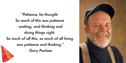 Happy birthday Gary Paulsen!